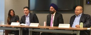 Panelists present educational material during SABA event