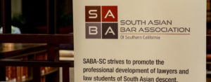 SABA logo and mission excerpt on display banner