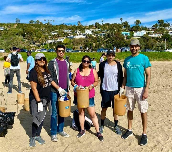 Beach Cleanup SABA-SC Seva Day 2020