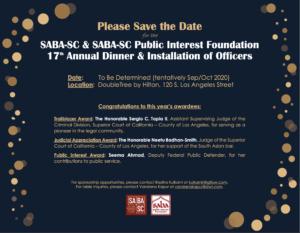 SABA-PIF Banquet 2020 flyer