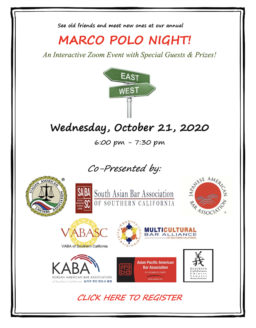 Marco Polo Night - Wednesday, October 21, 2020