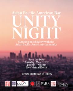 APAB Unity Night - Thursday, May 6, 2021 5:00-7:00 PM