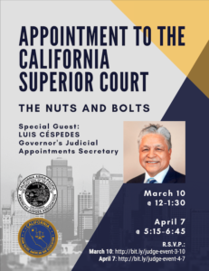 Appointment to the CA Superior Court - The Nuts and Bolts - April 7, 2021