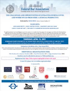 Litigating During Covid - Thursday, April 15, 2021
