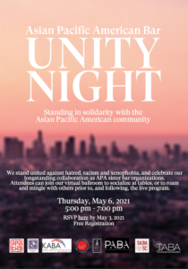 Asian Pacific American Bar Unity Night - Thursday, May 6, 2021, 5:00 - 6:00 PM
