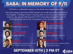 SABA: In Memory of 9/11 - Friday, September 10, 2021, 3:00 PM