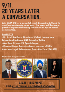 9/11. 20 Years Later, A Conversation - 9/16/21, 12:1 PM PST